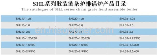 SHL Series Field Assemble Chain Grate Boiler