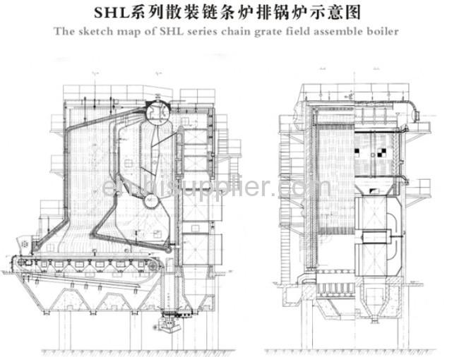 SHL Series Chain Grate Field Assemble Boiler