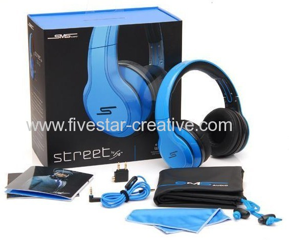 SMS Audio Street 50 Cent Headphones Blue from China manufacturer