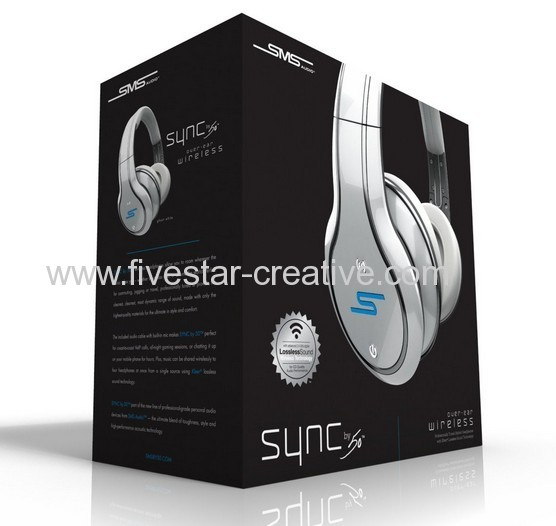 SMS Audio SYNC by 50 Wireless Over-ear Headphones White