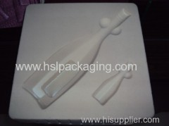 high quality ps flocking plastic wine tray packaging