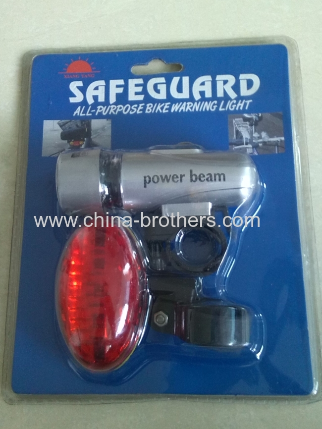 5 LED Bicycle Light Set Includ Front Bike Light and Bike Tail Light