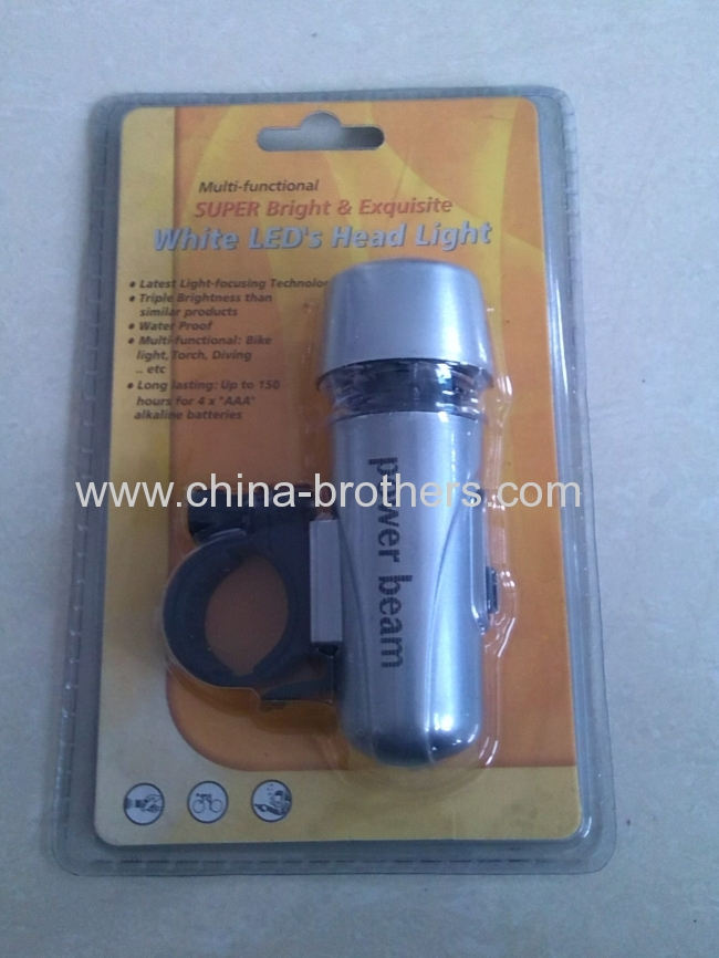 New hot sale 2 in 1 Bycicle LED torch light and Tail safe Light