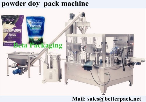 Whey Protein Powder Doy Pack Machine Powder Auger Filling