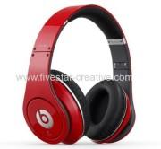 Beats Studio Over-Ear Headphones-Red