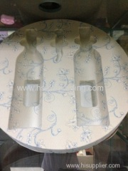 plastic electronic packing tray with flocking