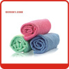 40*40cm Miraculous Red/green/blue microfiber cloth cleaning cloth with Paper card