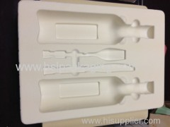 vacuum forming flock ps tray for wine glass and beverage and other food