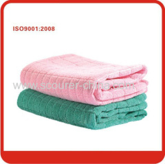 Anti-bacterial treatment 100% Polyester magic microfiber cleaning cloth for Furniture cleaning