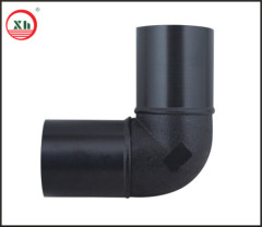 2013 hot sale HDPE butt fusion fittings series HDPE 90D elbow