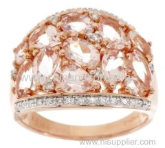 Ladies rose gold CZ rings
