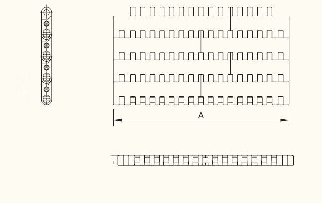 YY-1100 flat frame modular plastic belt flat frame modular plastic belt