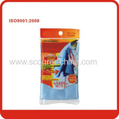 Blue/red/light green/yellow microfiber cloth cleaning cloth for furniture and polishing glass&mirror kitchen&bath
