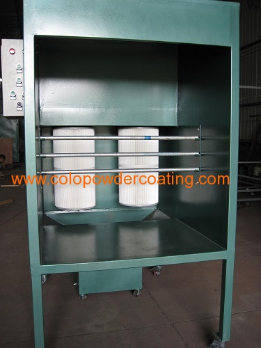Small-sized lab versions Powder Coat Spray Booth