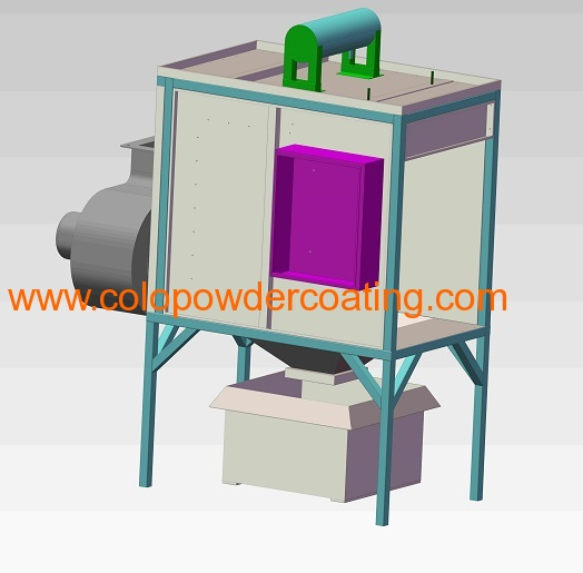 Powder coat spray booth manufacturers and suppliers in china for Powder coating paint booth