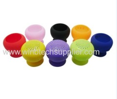 mini sticker speaker with bluetooth handsfree calling mini speaker mushroom bluetooth speaker