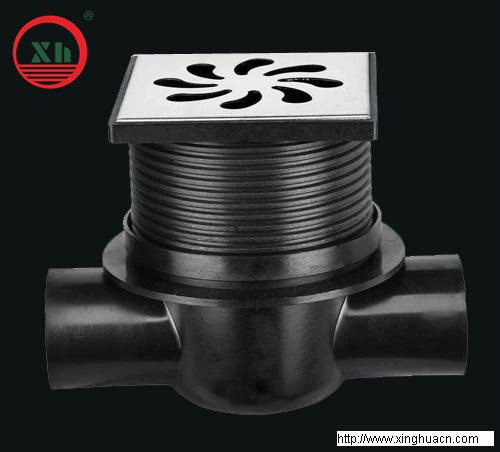 2013 hot sale HDPE the horizontally type floor drain from China