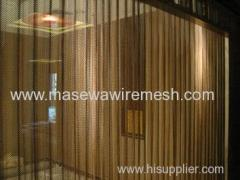 metal wire mesh as hotel divider