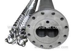 twin parallel screw barrel for pvc pe
