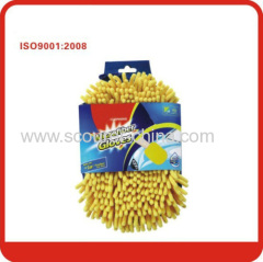 New popular Super-Soft Chenille and Microfiber car cleaning microfiber gloves