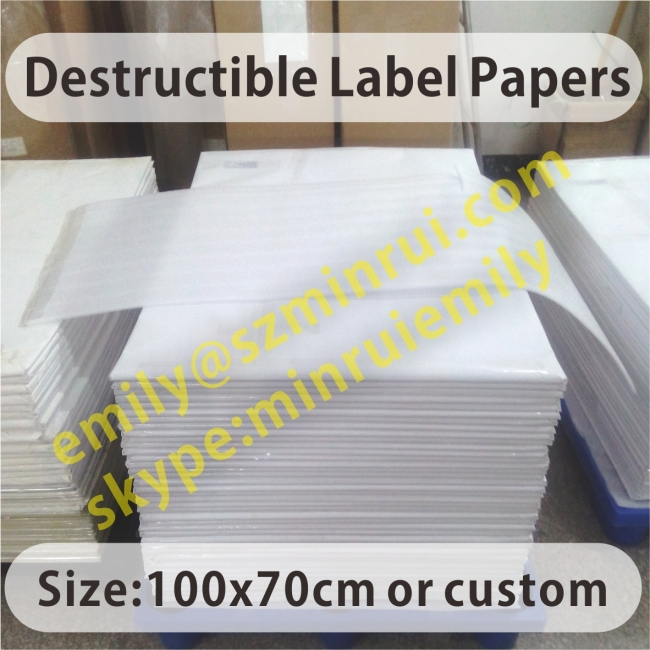 Real Manufacturer Of Eggshell Sticker Papers In China,Largest Factory Of Destructible Vinyl Label Materials