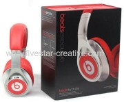 2013 Beats by Dr.Dre Executive Over-Ear Headphone(Silver&Red)