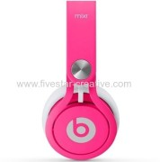 Beats by Dr.Dre Mixr High Performance On-Ear Headphone Neon Pink