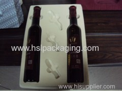 plastic tray with pile coating