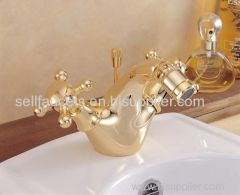 gold clour single hole bathroom Bidet faucet body faucet sex faucet