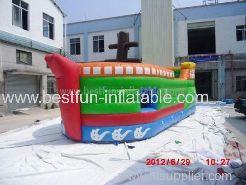Inflatable Pirate Ship Slide and Castle