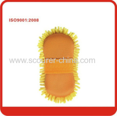 Safety Chenille car cleaning mitt with non-woven fabrics design for car household resturant