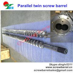 parallel twin bimetallic screw barrel