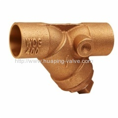Bronze Y Strainers with Tapped Retainer Cap