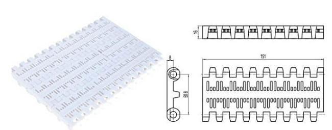 Perforated flat top conveyor belt