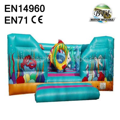 Smurf pirate Ship jumping Bounce House
