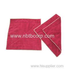 30x30cm red microfiber towel