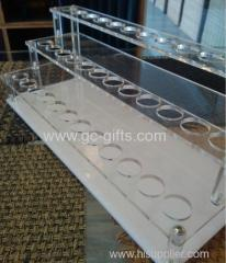 Creative novel of three layers of transparent acrylic lipstick display rack
