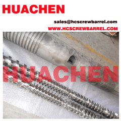 parallel bimetallic twin screw barrel