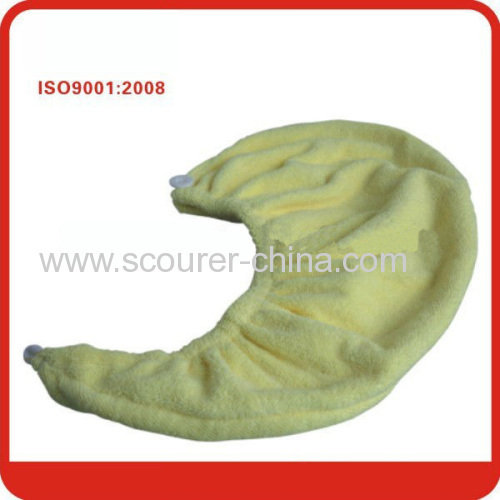 Plain Dyed Microfiber Hair Drying Turban Bath Cap terry soft shower cap for Adults