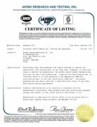 NSF/ANSI 372 Certificate