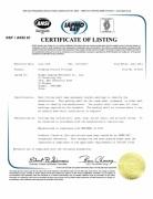 NSF/ANSI 61 Certificate