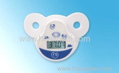 Pacifier baby use digital thermometer