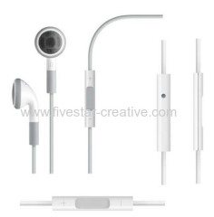 Earphones with Remote&Mic for iPhone iPod iPad white