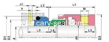 burgmann type H7N O -ring Mechanical Seal