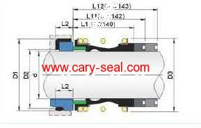 vulcan 14/142/143 Elastomer Bellow mechanical Seals