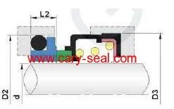Vulcan type of 28 mechanical seal for sanitary pumps