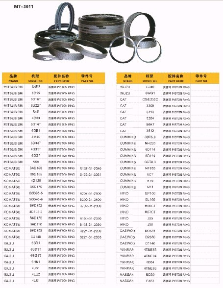 6D102 PISTON RING FOR EXCAVATOR