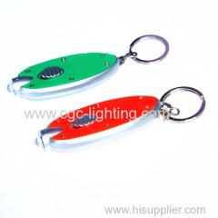 Tactical keychain LED flashlight