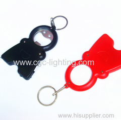 Creative keychain flash light