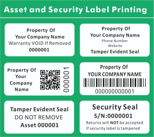 tamper evident security asset label sticker from china manufacturer